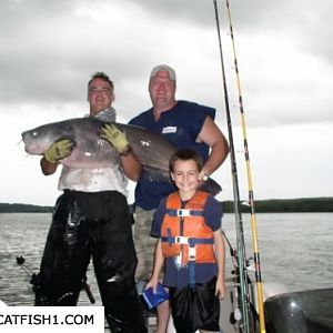 Young Eric's Monster 72 Pound Blue Cat